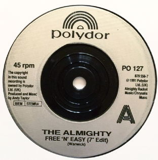 "Almighty (The) - Free 'N' Easy (7"") (EX-/NM)"